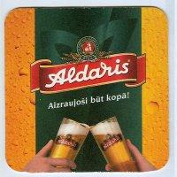 Aldaris coaster A page
