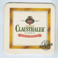 Clausthaler coaster A page