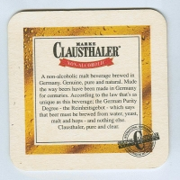 Clausthaler coaster B page