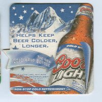 Coors coaster A page