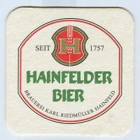 Hainfelder coaster A page
