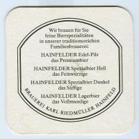 Hainfelder coaster B page