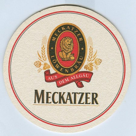 Meckatzer coaster A page