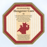 Old Speckled Hen coaster B page