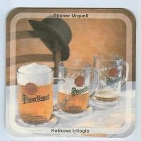 Pilsner Urquell coaster A page