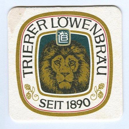 Trierer Löwenbräu coaster A page