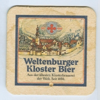 Weltenburger coaster A page
