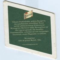 Wernesgrüner coaster B page